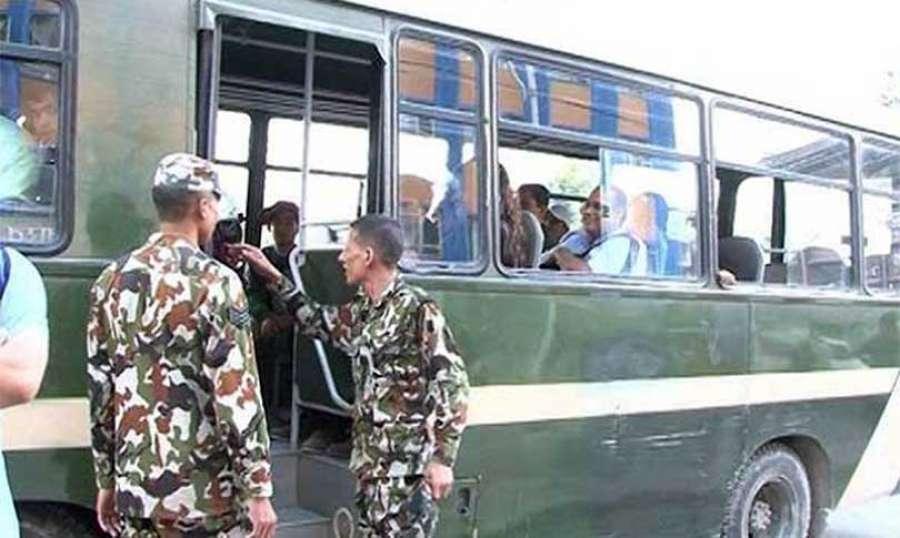 दशैँमा नेपाली सेनाको निशुल्क बस सेवा (रुट सहित)