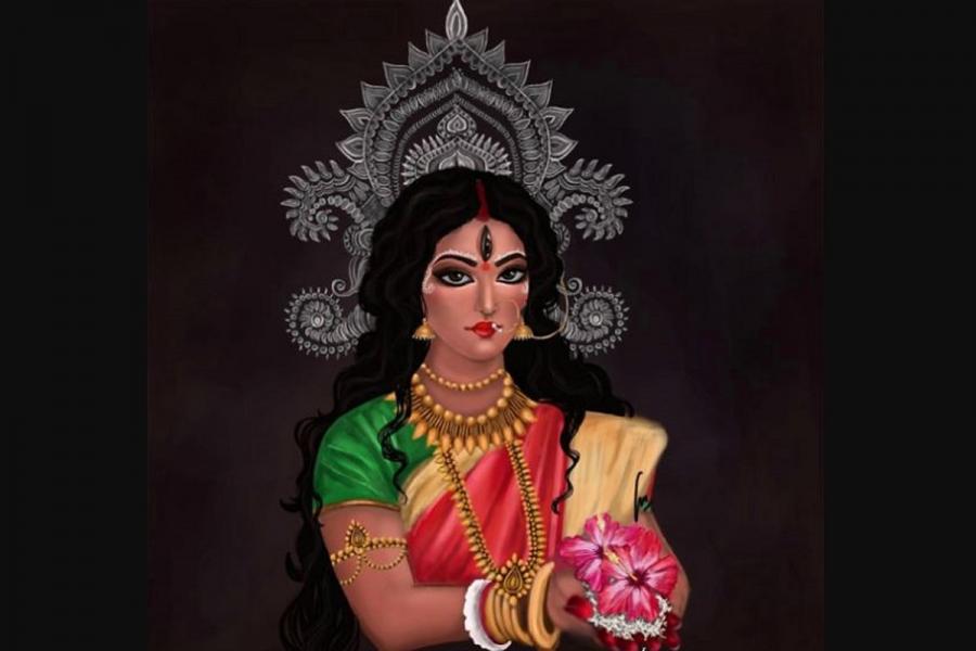 नवरात्रको नवौँ दिन सिद्धिदात्री देवीको पूजा आराधना, तलेजु भवानी मन्दिरमा भीड